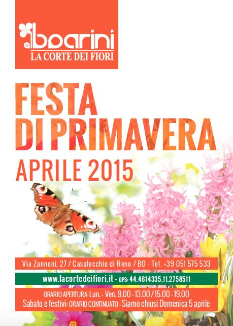 FESTA DI PRIMAVERA 2015 - APRILE